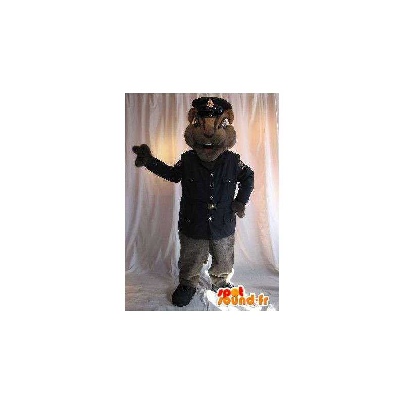 Squirrel mascot security guard uniform disguise - MASFR001791 - Mascots squirrel