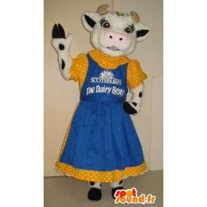 Cow Mascot outfit van de jaren '50, '50 kostuum - MASFR001792 - koe Mascottes
