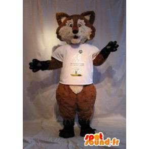 Mascot que representa un zorro marrón, traje de zorro - MASFR001793 - Mascotas Fox