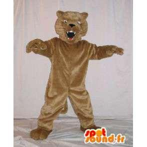 Mascot wat neerkomt op een opgezette kat, kat kostuum - MASFR001794 - Cat Mascottes