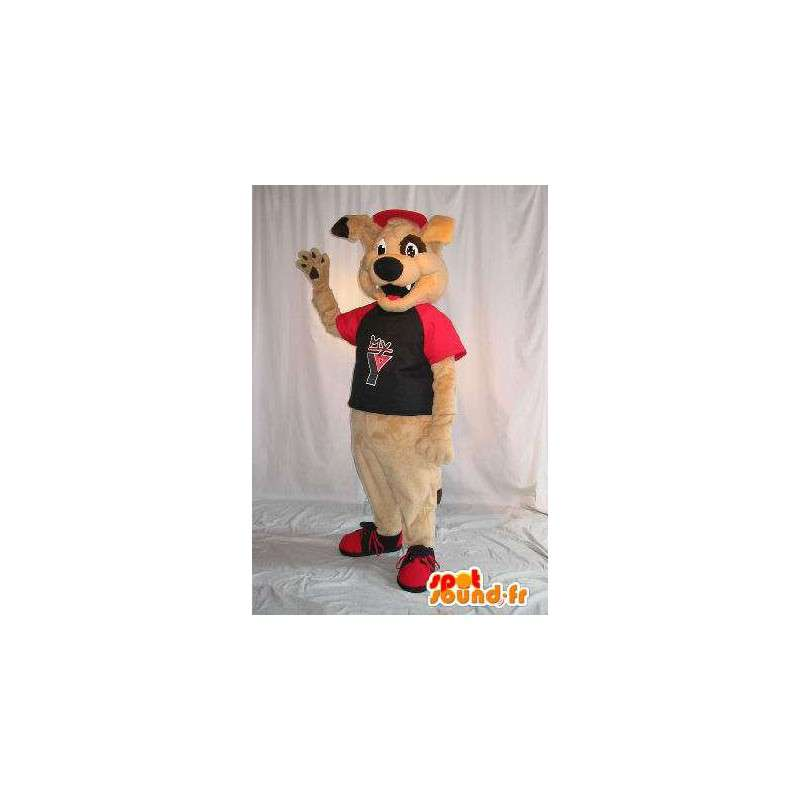 Beige dog mascot costume teddy - MASFR001796 - Dog mascots