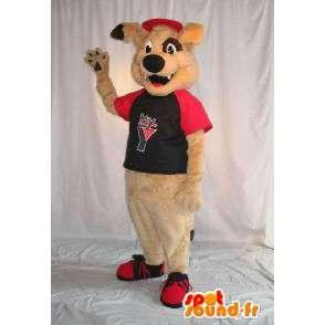 Mascotte de chien beige, déguisement en peluche - MASFR001796 - Mascottes de chien