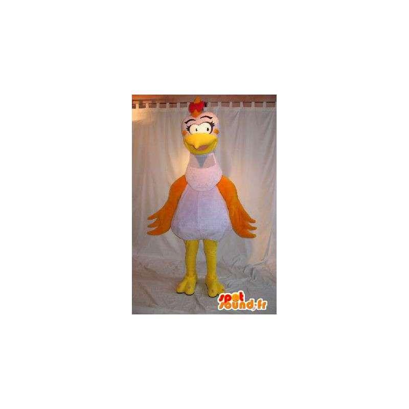 Mascotte de poule coquette, déguisement de cocotte - MASFR001797 - Mascotte de Poules - Coqs - Poulets