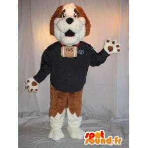 Maskotti edustaa Saint Bernard, hengenpelastaja naamioida - MASFR001798 - koira Maskotteja
