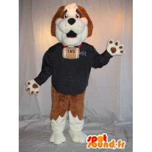 Representing a Saint Bernard mascot costume lifeguard