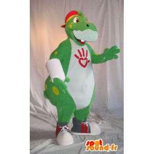 Mascot representando un hipopótamo de la cadera, traje hipopótamo