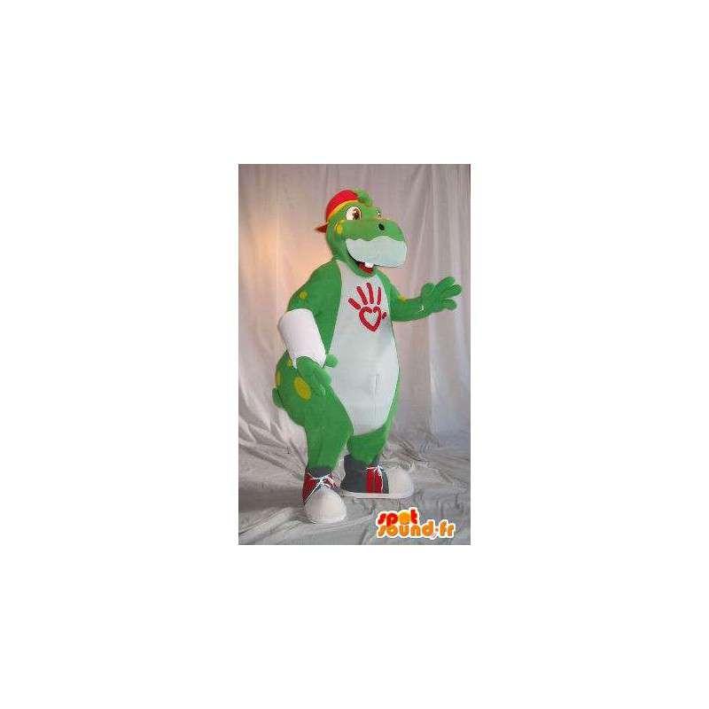 Mascotte représentant un hippopotame branché, déguisement hippopotame - MASFR001803 - Mascottes Hippopotame
