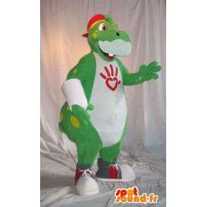 Hippo mascot representing a connected, hippo costume - MASFR001803 - Mascots hippopotamus