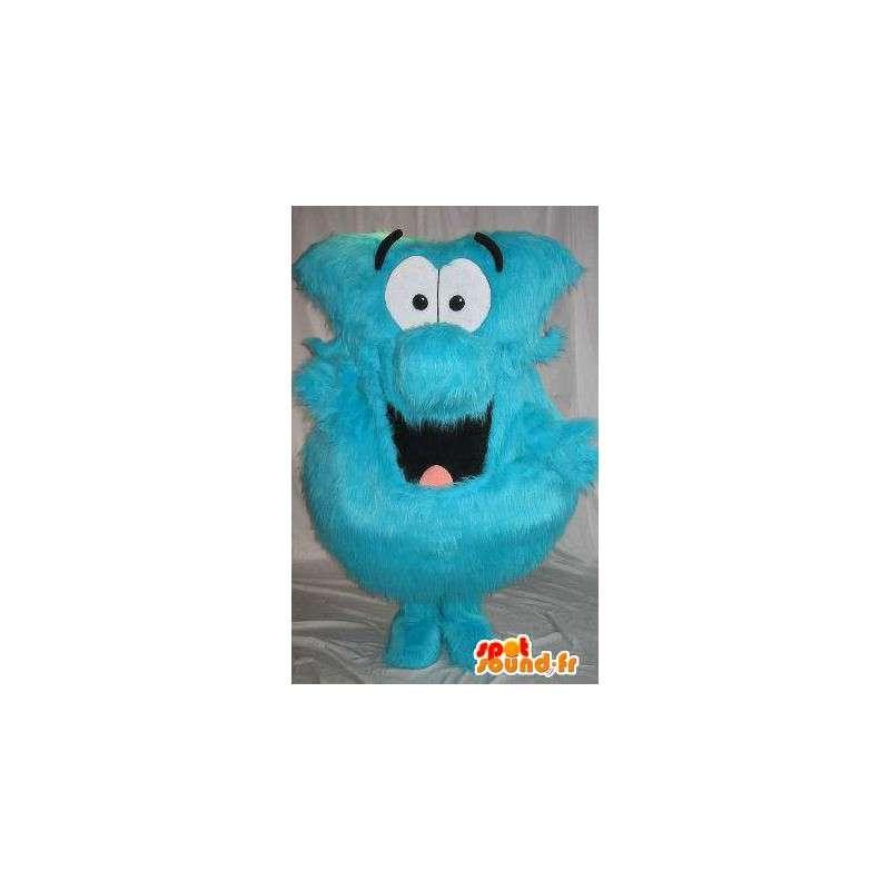 Pallo Mascot sininen hiukset, karvainen naamioida - MASFR001804 - Mascottes non-classées