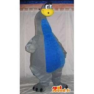 Mascotte de dinosaure au long cou, déguisement de dinosaure