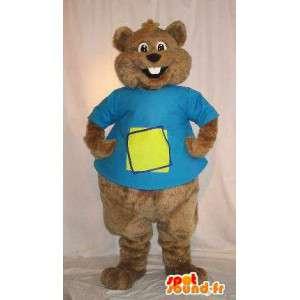 Mascotte d'écureuil brun, déguisement de rongeur