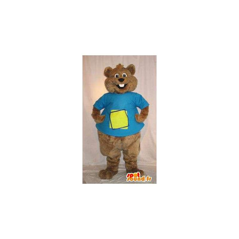 Mascotte d'écureuil brun, déguisement de rongeur - MASFR001807 - Mascottes Ecureuil