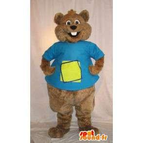 Mascot ruskea orava, jyrsijä naamioida - MASFR001807 - maskotteja orava