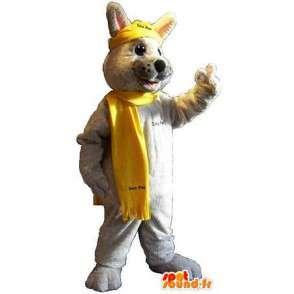 Winter-Kaninchen Maskottchen Kostüm Kaninchen - MASFR001810 - Hase Maskottchen