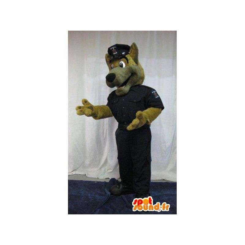Mascotte de chien en tenue de flic, déguisement de policier - MASFR001818 - Mascottes de chien
