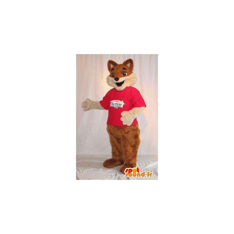 茶色のキツネの毛皮の衣装を表すマスコット - MASFR001819 - フォックスマスコット