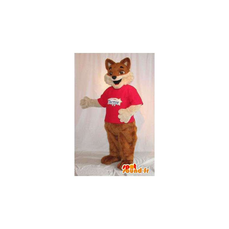 En representación de un zorro marrón mascota traje de la piel - MASFR001819 - Mascotas Fox