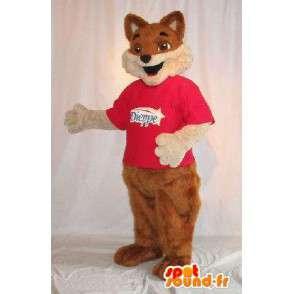 Rappresentando una mascotte marrone volpe, pelliccia costume - MASFR001819 - Mascotte Fox