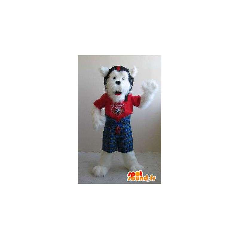Fox terrier mascot helmet, dog costume - MASFR001820 - Dog mascots