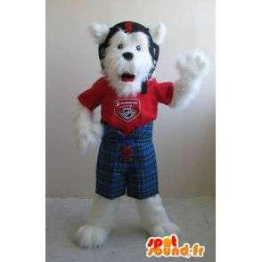 Fox terrier mascotte gehelmde, hond kostuum - MASFR001820 - Dog Mascottes