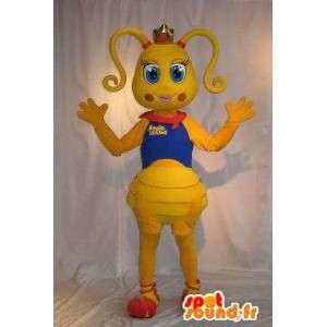 Mascotte de fourmi coquette, déguisement de fourmi