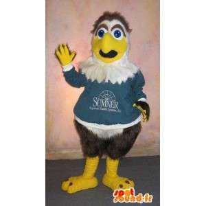 Mascotte de petit aigle sympathique, déguisement d'aigle
