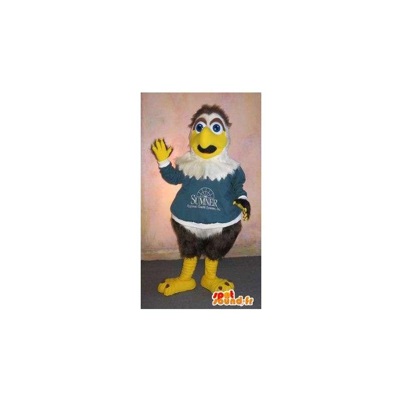 Mascotte de petit aigle sympathique, déguisement d'aigle - MASFR001826 - Mascotte d'oiseaux