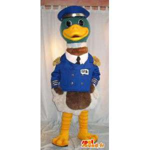 Mascot duck boat captain in uniform disguise