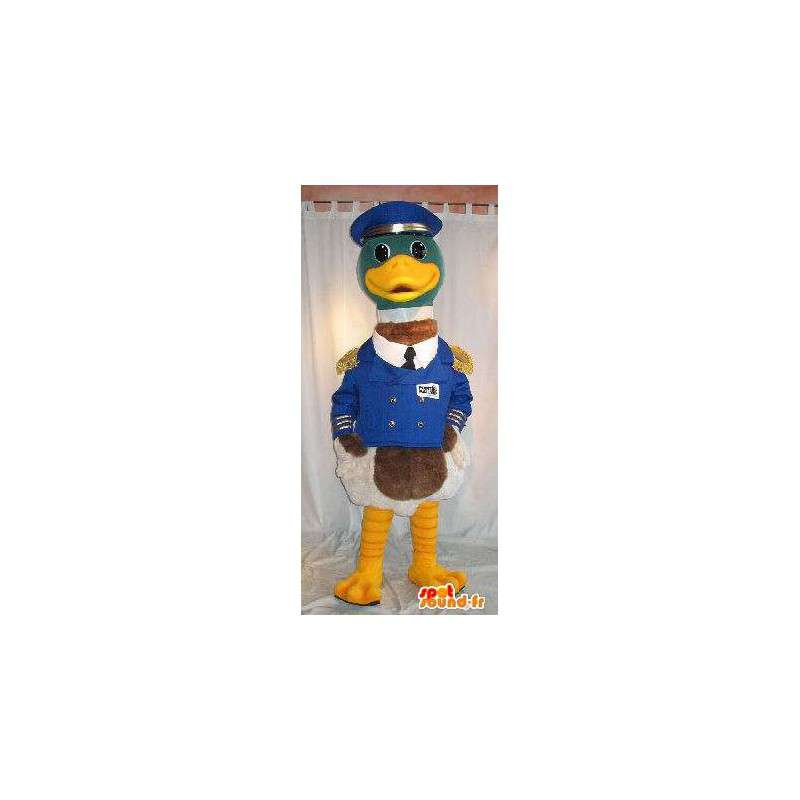 Capitán de la mascota del barco de pato traje uniforme - MASFR001829 - Mascota de los patos