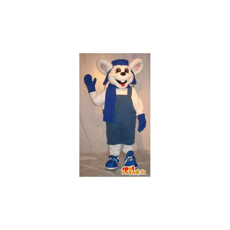 Mascotte de souris en tenue d'hiver, déguisement de souris - MASFR001830 - Mascotte de souris