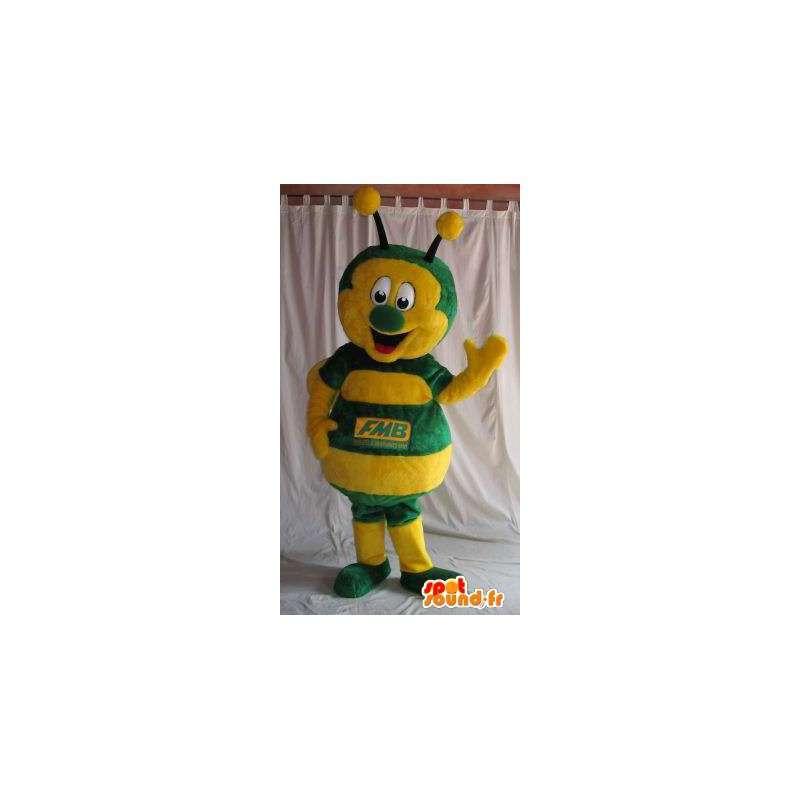 Mascot geel en groen lieveheersbeestje, insect vermomming - MASFR001831 - mascottes Insect