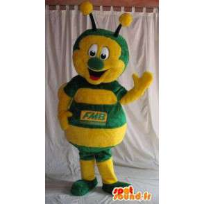 Ladybug mascot yellow and green costume insect - MASFR001831 - Mascots insect