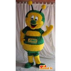 Mascot gelbe und grüne Marienkäfer-Kostüm Insekten - MASFR001831 - Maskottchen Insekt