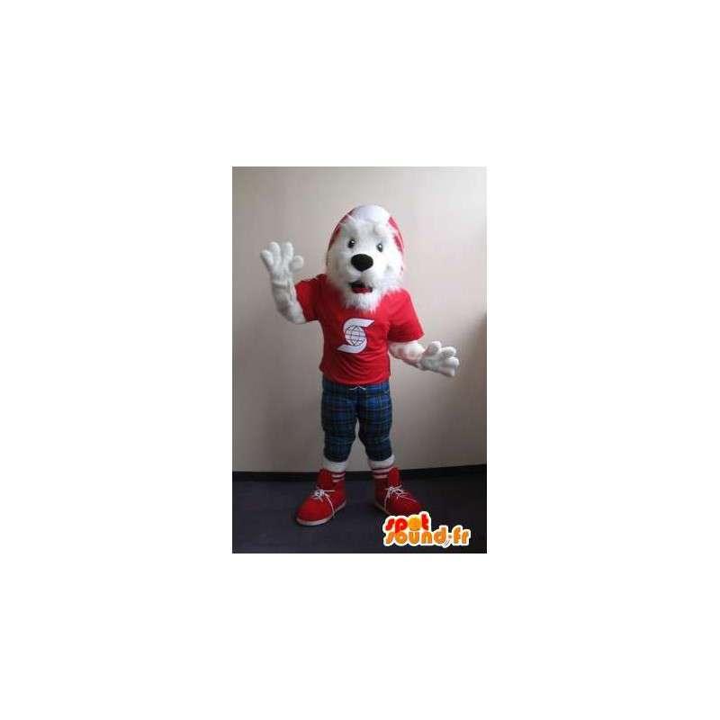 Mascot ligado fox terrier, fantasia de cachorro - MASFR001832 - Mascotes cão