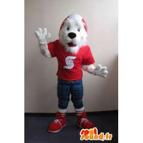 Mascotte de fox-terrier branché, déguisement de chien - MASFR001832 - Mascottes de chien
