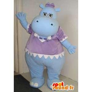 Mascotte de bébé hippopotame, déguisement de bébé.