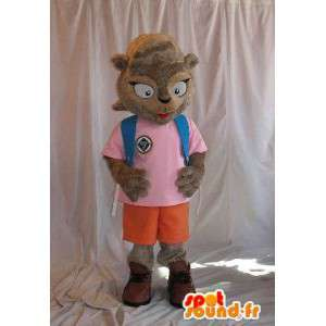 Squirrel mascot representing a schoolgirl costume-School