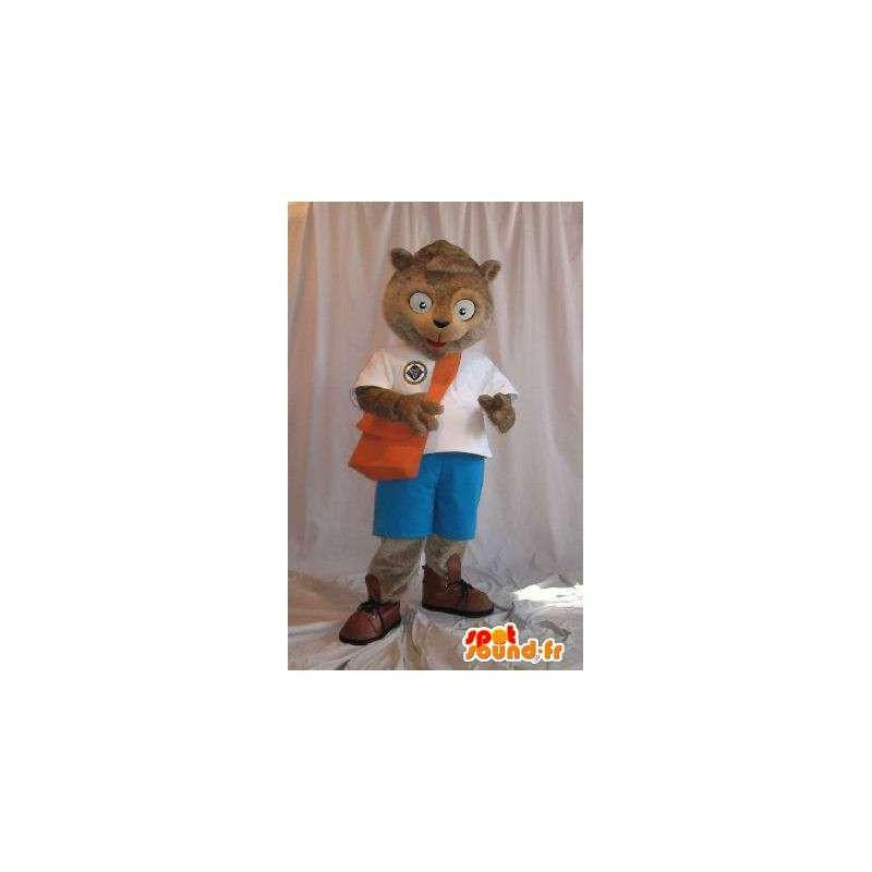 Maskotti edustaa koulupoika orava School valepuvussa - MASFR001843 - maskotteja orava