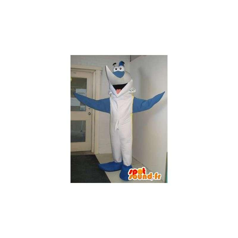 Vasarahait maskotti yhdessä, hain puku - MASFR001845 - maskotteja Shark
