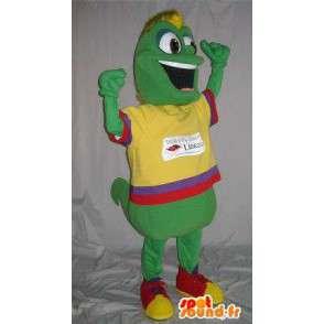 Mascot regenworm gekleurde kleding, veelkleurige vermomming - MASFR001848 - mascottes Insect
