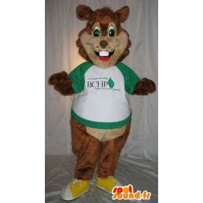 Mascotte de rongeur brun, déguisement d'écureuil - MASFR001849 - Mascottes Ecureuil