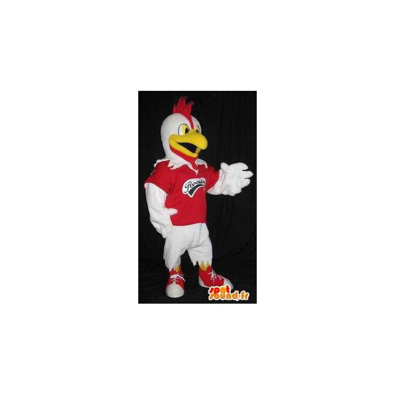 Maskot představující sportovec kohout, kohout převlek - MASFR001857 - Maskot Slepice - Roosters - Chickens