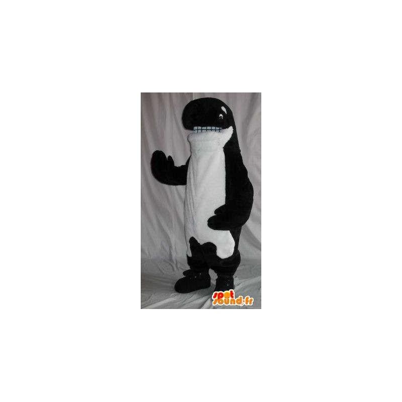 En representación de una mascota de la felpa de la ballena orca de vestuario - MASFR001860 - Mascotas del océano