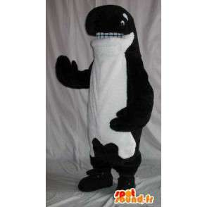 Representing an orca mascot plush costume cetacean - MASFR001860 - Mascots of the ocean