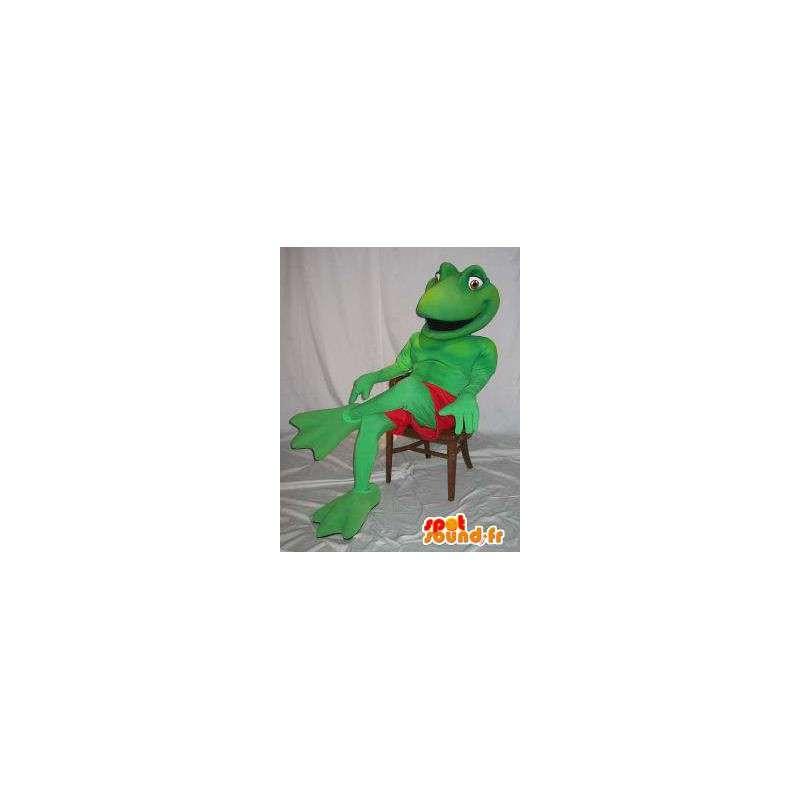 Representing a mascot frog costume Kermit - MASFR001861 - Mascots frog
