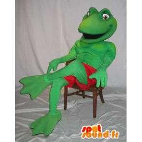 Maskotti edustaa sammakko puku Kermit - MASFR001861 - sammakko Mascot