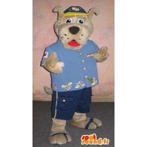 Mascotte de chien en mode touriste, déguisement touristique - MASFR001865 - Mascottes de chien