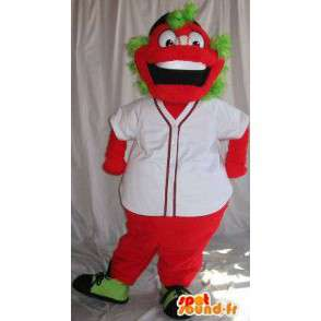 Red Maskottchen Charakter mit grünen Haaren bunten Kostüm - MASFR001870 - Maskottchen nicht klassifizierte