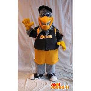 Eagle maskot i amerikansk basketball outfit, amerikansk