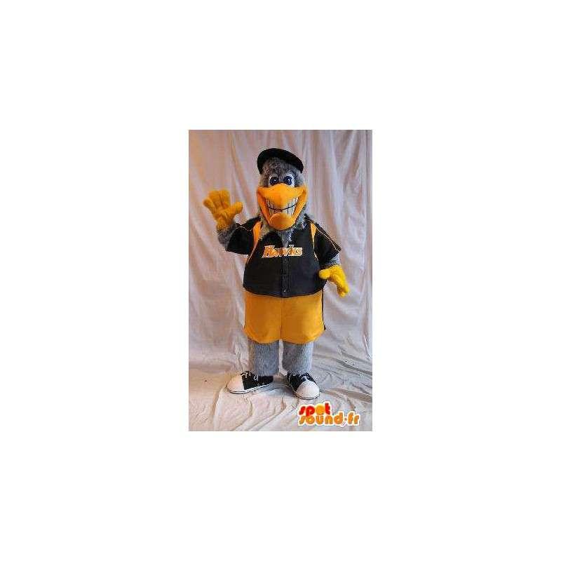 Mascotte aigle en tenue de basketteur US, déguisement basket us - MASFR001873 - Mascotte d'oiseaux